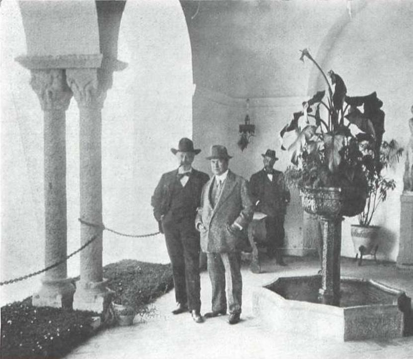 Rusiñol y Rubén Darío en Sitges